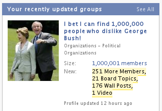 Facebook George Bush
